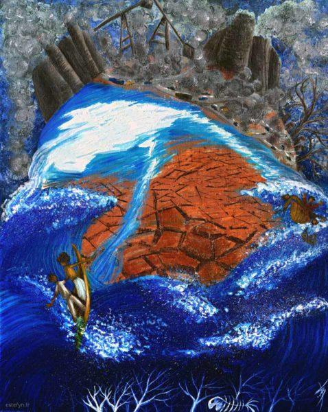 Peinture Dérèglement climatique