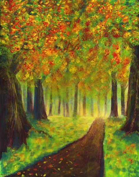 Peinture Poésie d'automne
